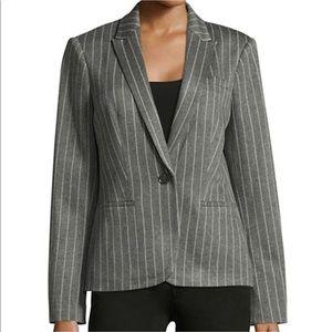 Tommy Hilfiger Striped Single Button Blazer